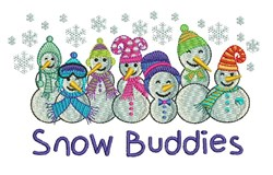Snow Buddies embroidery design
