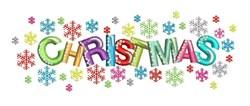 Christmas Snowflakes embroidery design