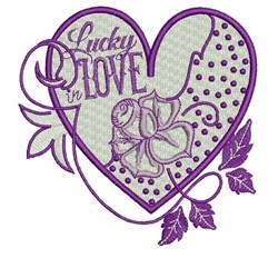 Lucky Love embroidery design