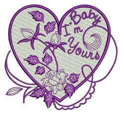Baby Im Yours embroidery design