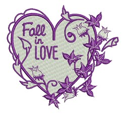 Fall In Love embroidery design