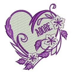 Adore Heart embroidery design