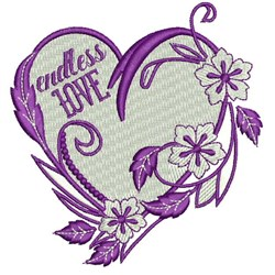 Endless Love embroidery design