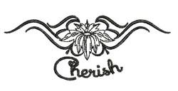 Cherish embroidery design