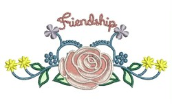 Friendship Rose embroidery design