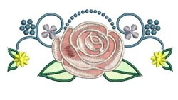 Rose Blossom embroidery design