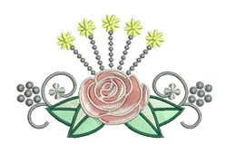 Rose Bloom embroidery design