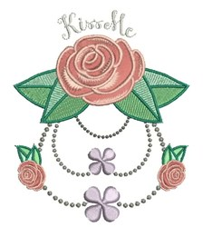 Kissable Rose embroidery design