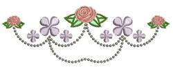 Rose Decor embroidery design