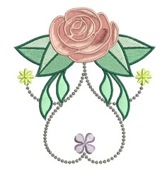 Rose Floral embroidery design