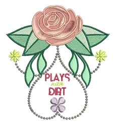 Plays With Dirt embroidery design