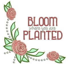 Where Planted embroidery design