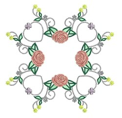 Rose Hearts embroidery design
