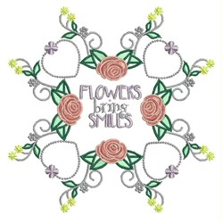 Flowers Bring Smiles embroidery design