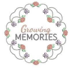 Growing Memories embroidery design
