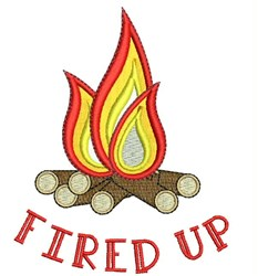 Fired Up embroidery design