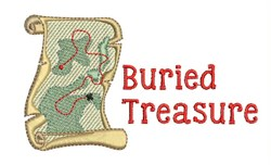 Buried Treasure embroidery design
