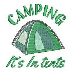 Its In Tents embroidery design
