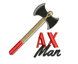 Ax Man embroidery design