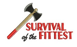 Survival Of Fittest embroidery design