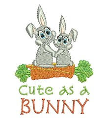 Cute As Bunny embroidery design