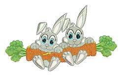 Carrot Rabbits embroidery design