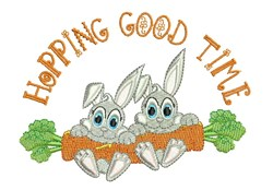 Hopping Good Time embroidery design