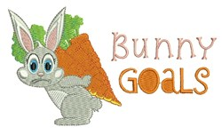 Bunny Goals embroidery design