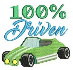 100% Driven embroidery design