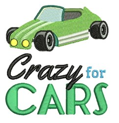 Crazy For Cars embroidery design