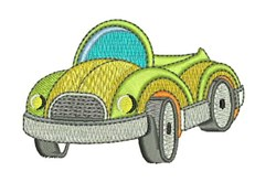 Yellow Car embroidery design