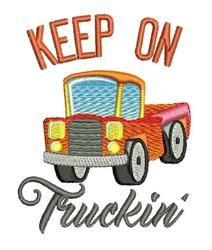 Keep On Truckin embroidery design