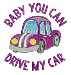 Drive My Car embroidery design