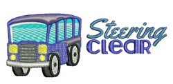 Steering Clear embroidery design