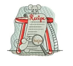 Recipe embroidery design