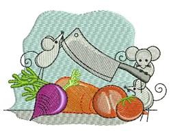 Chef Mice embroidery design