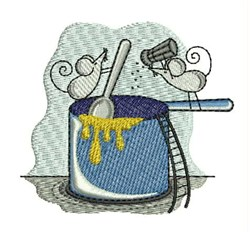 Cooking Mice embroidery design