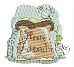 Flour Friends embroidery design