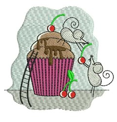 Cupcake Mice embroidery design