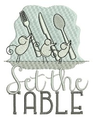Set The Table embroidery design