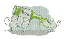 Wine Mice embroidery design