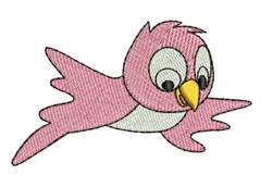 Pink Bird embroidery design