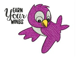 Earn Your Wings embroidery design