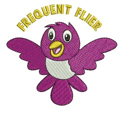 Frequent Flier embroidery design
