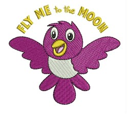 Fly Me embroidery design