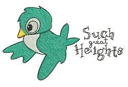 Such Heights embroidery design