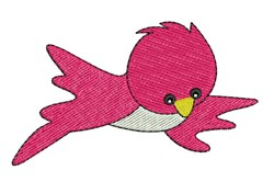 Fuchsia Bird embroidery design