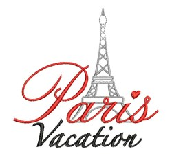 Paris Vacation embroidery design