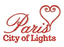 City Of Lights embroidery design