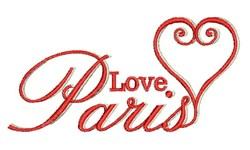 Love Paris embroidery design